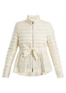 Moncler Serpentine quilted down embroidered jacket