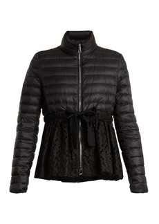 Moncler Serpentine quilted-down embroidered jacket