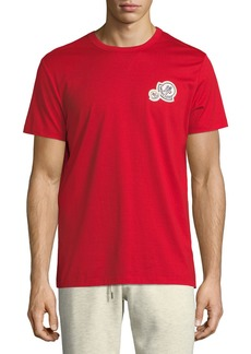 Moncler Short-Sleeve T-Shirt with Patches