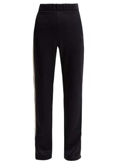 Moncler Side-stripe jersey track pants