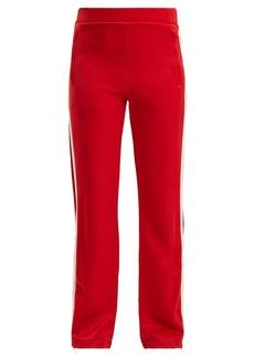 Moncler Side-stripe wide-leg jersey track pants