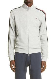 Moncler Side Stripe Zip Cotton Sweatshirt
