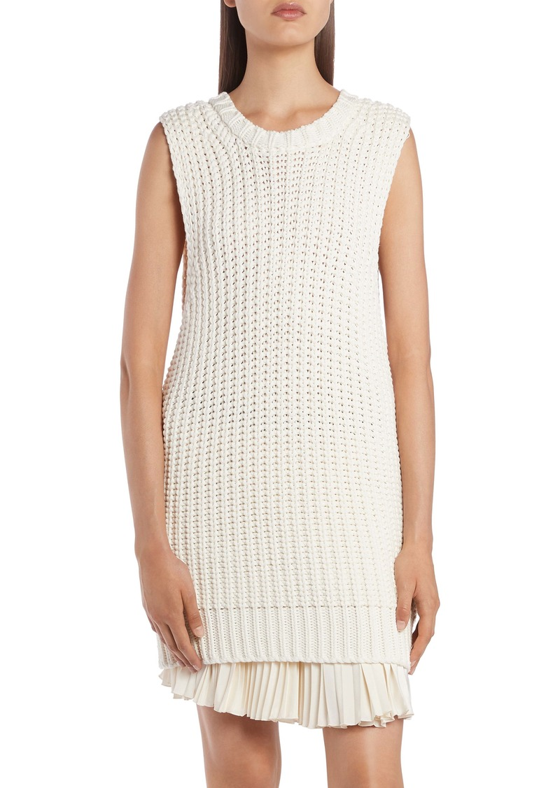 Moncler Sleeveless Cotton Blend Tunic Sweater