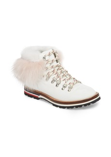 Moncler Solange Hiking Boot with Genuine Mink Fur Trim (Women)