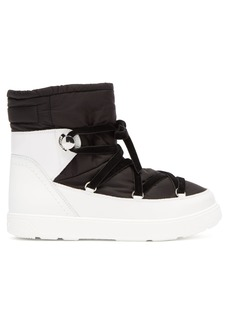 Moncler Stephanie contrast-panel boots