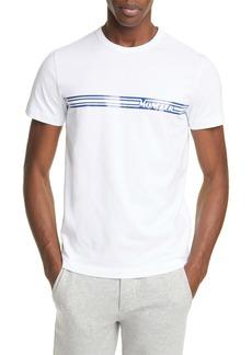 Moncler Stripe Logo T-Shirt