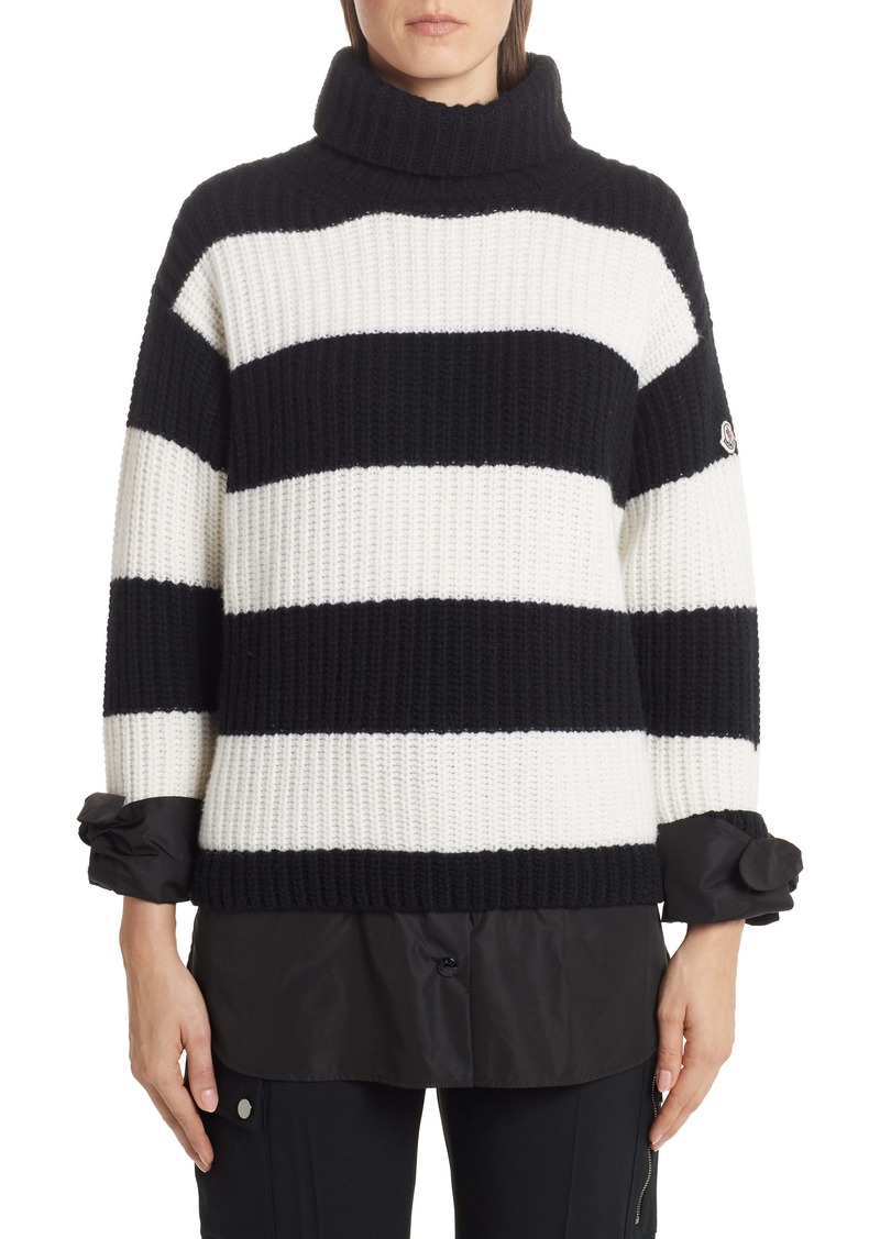 Moncler Stripe Turtleneck Sweater