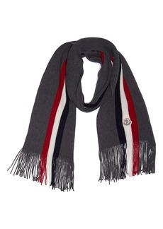 Moncler Stripe Virgin Wool Scarf