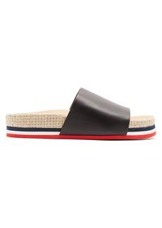 Moncler Striped leather slides