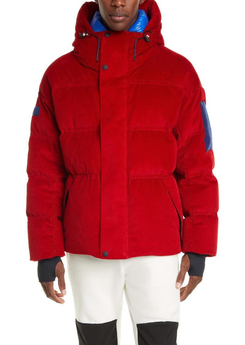 Moncler Grenoble Stuller Hooded Corduroy Puffer Jacket