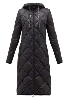 Moncler Suvex hooded diamond-quilted coat
