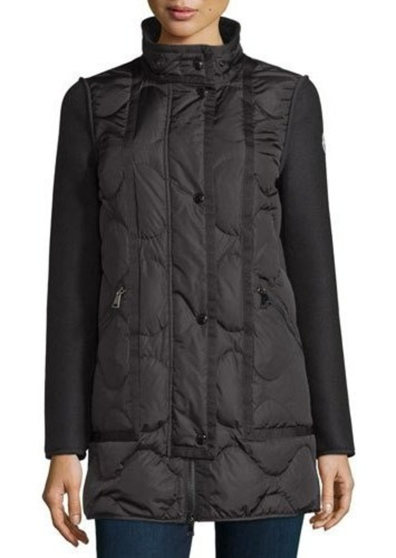 d8cef1963 Theodora Quilted Puffer Coat w/Shearling Hood