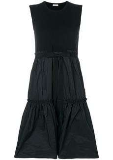 Moncler tiered hem sleeveless dress - Black