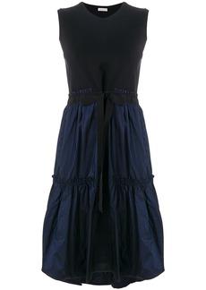 Moncler tiered hem sleeveless dress - Blue