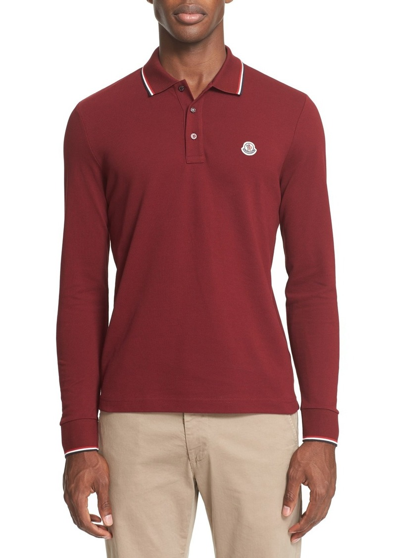 08aed7b0 Moncler Moncler Tipped Long Sleeve Polo | Casual Shirts