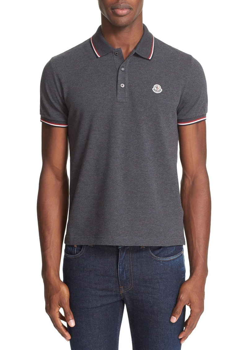 Moncler Tipped Short Sleeve Polo