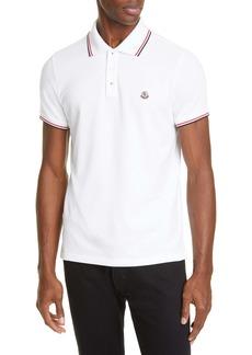 Moncler Tipped Solid Short Sleeve Piqué Polo