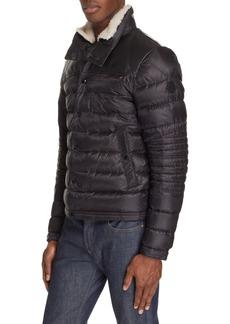 Moncler Vasserot Genuine Shearling Collar Jacket