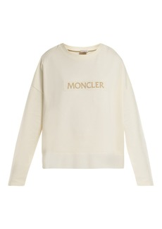 Moncler Velvet-logo cotton sweatshirt