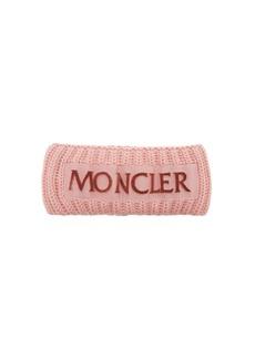 Moncler Velvet-logo wool headband