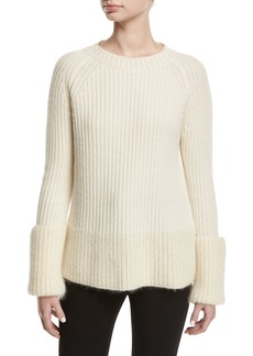 Moncler Wide Gauge Crew-Neck Sweater