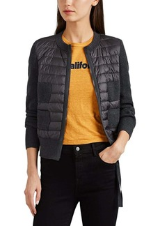Moncler Women's Down-Quilted & Virgin Wool Sweater