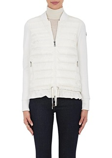 Moncler Women's Ruffled-Hem Combo Sweater