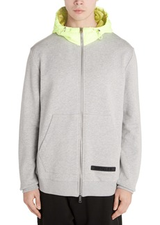 Moncler Zip Front Hooded Sweatshirt