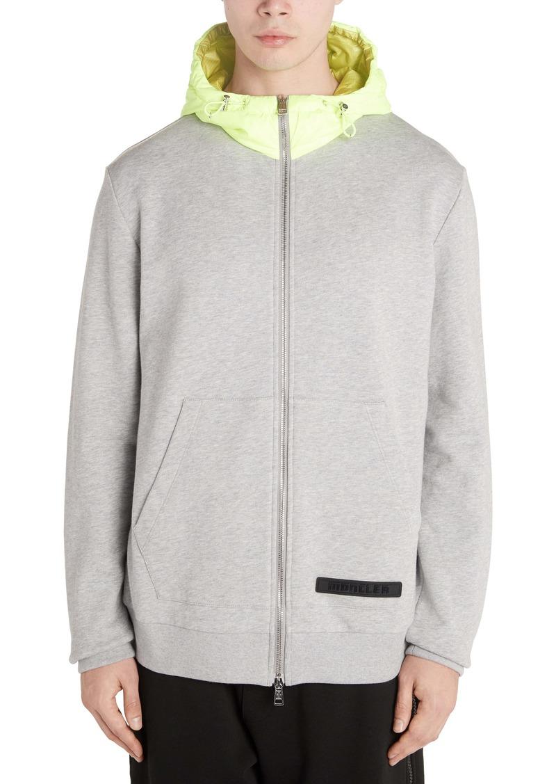 Moncler Zip Front Hooded Sweatshirt