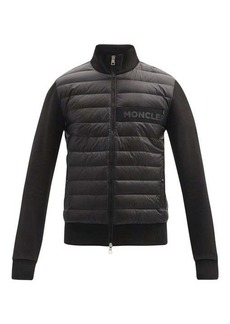 Moncler Zip-through down quilted jersey cardigan