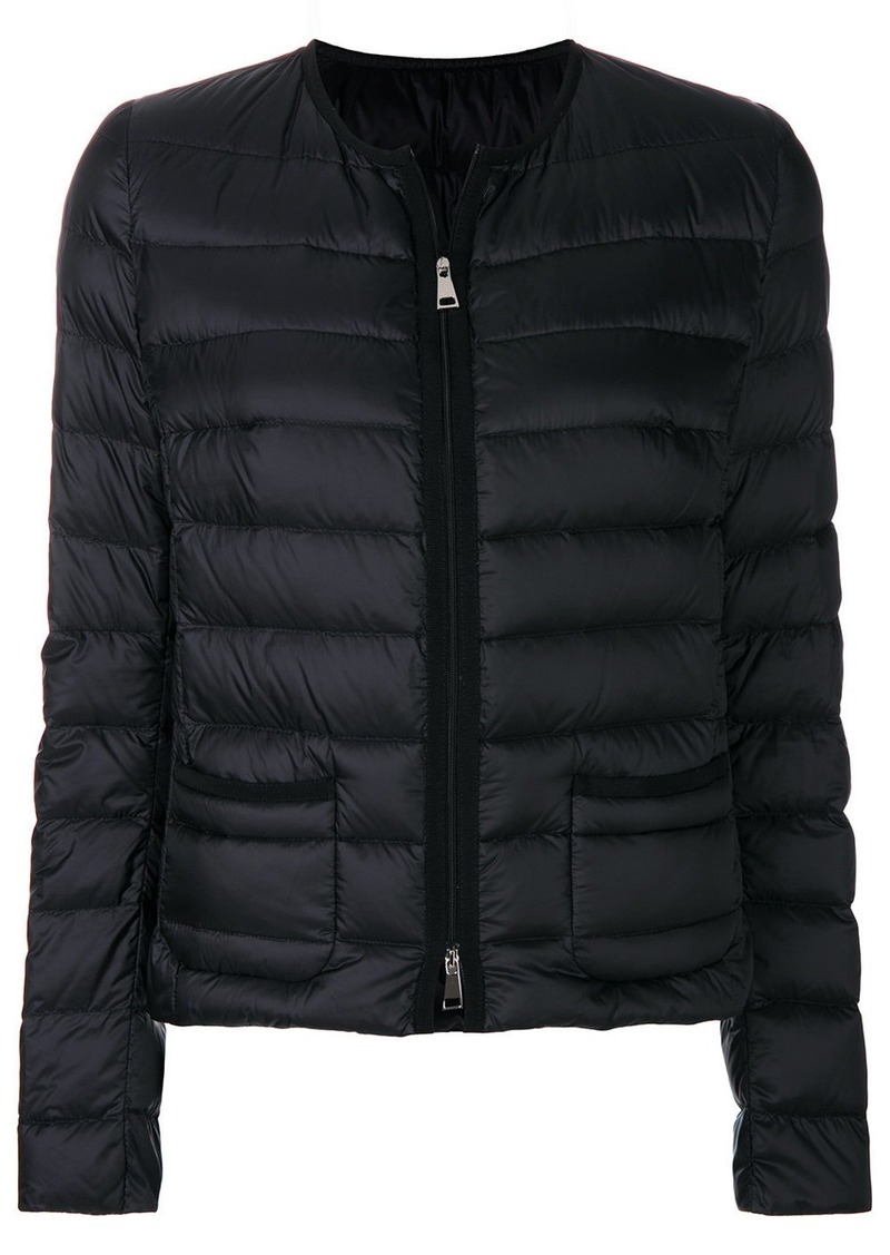 60b8a0dcd zipped puffer jacket - Black