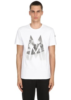 Moncler Mountain Logo Cotton Jersey T-shirt