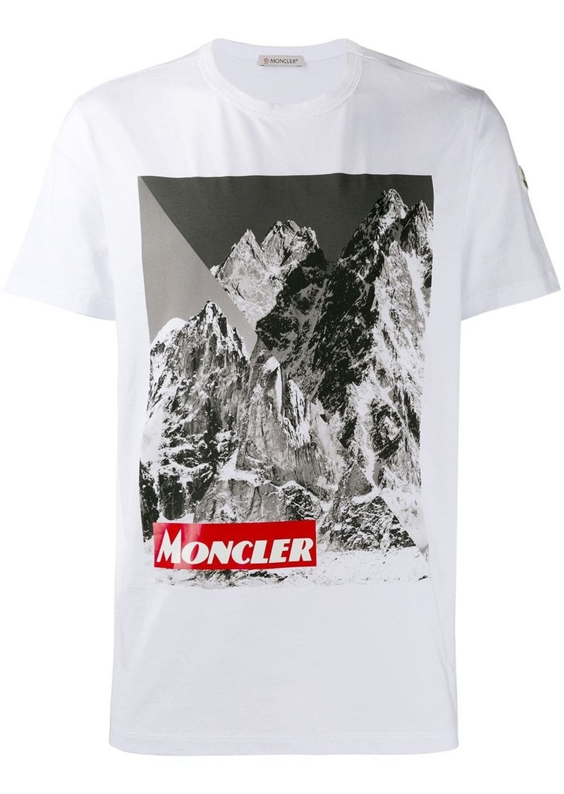 Moncler mountain print T-shirt
