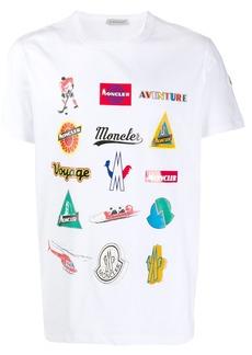 Moncler multi logos print T-shirt
