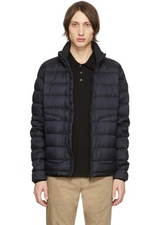 Moncler Navy Down Garment-Dyed Octavien Jacket