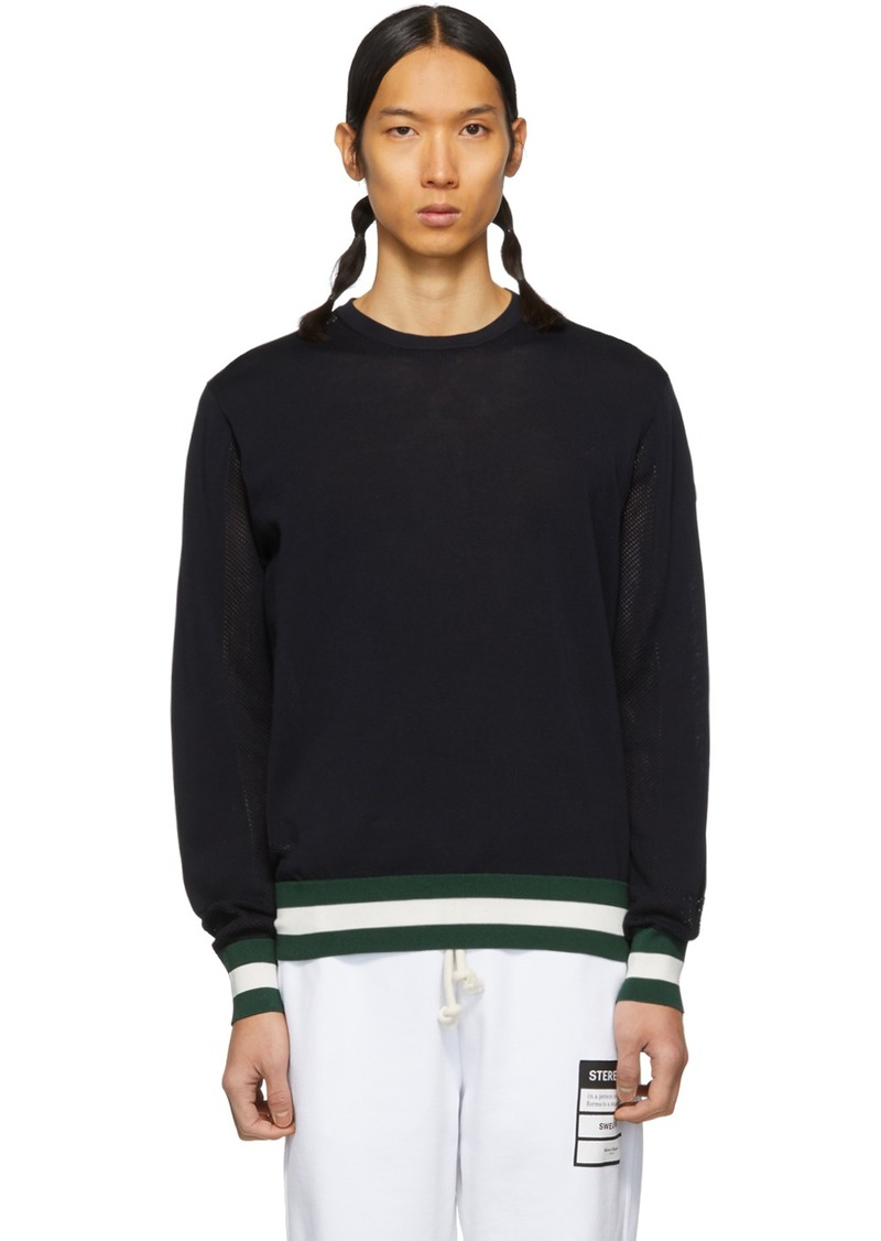Moncler Navy Knit Sweater