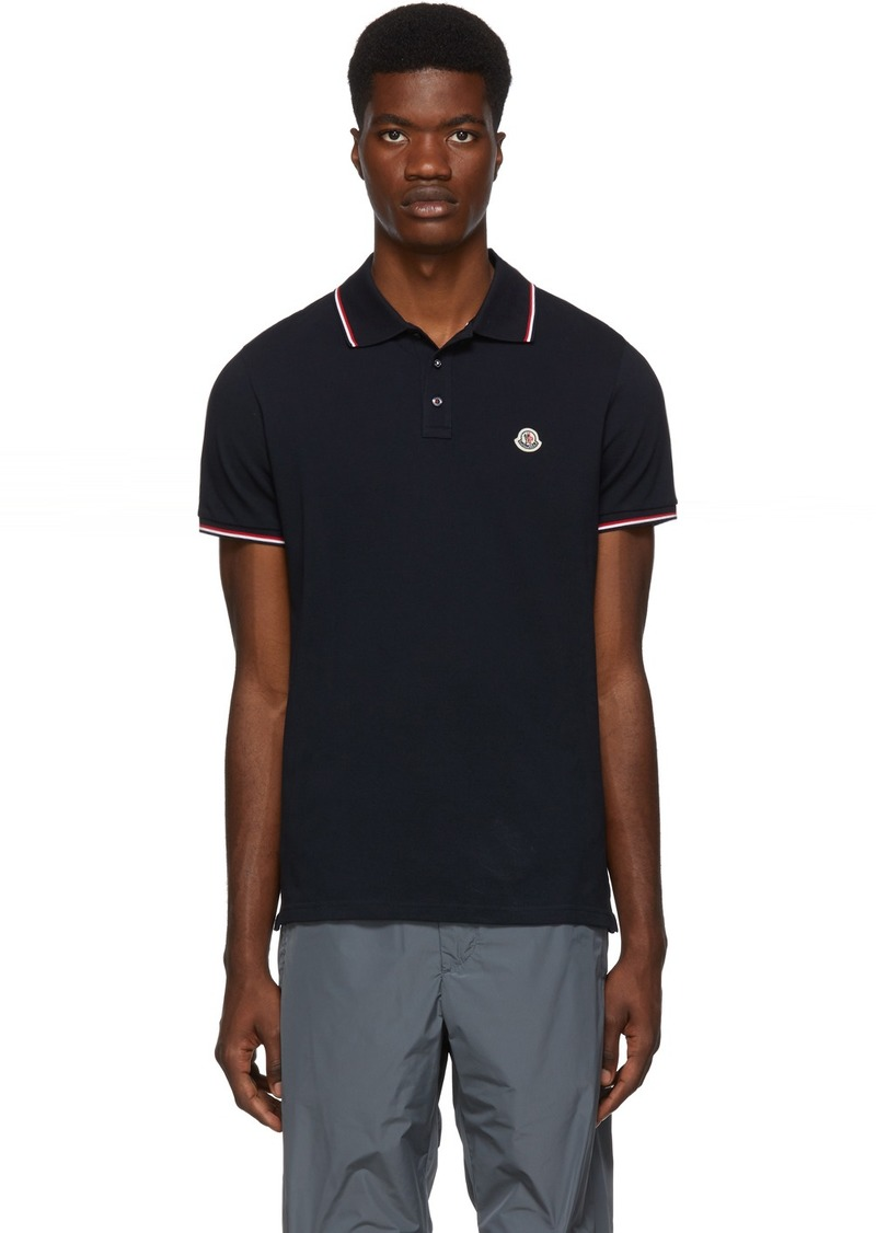 Moncler Navy Logo Patch Polo