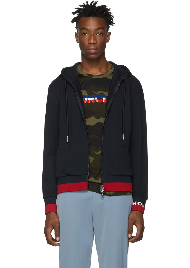 Moncler Navy Striped Hoodie