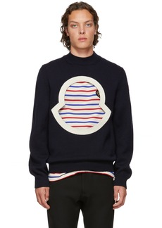 2 Moncler 1952 Navy Wool Crewneck Sweater