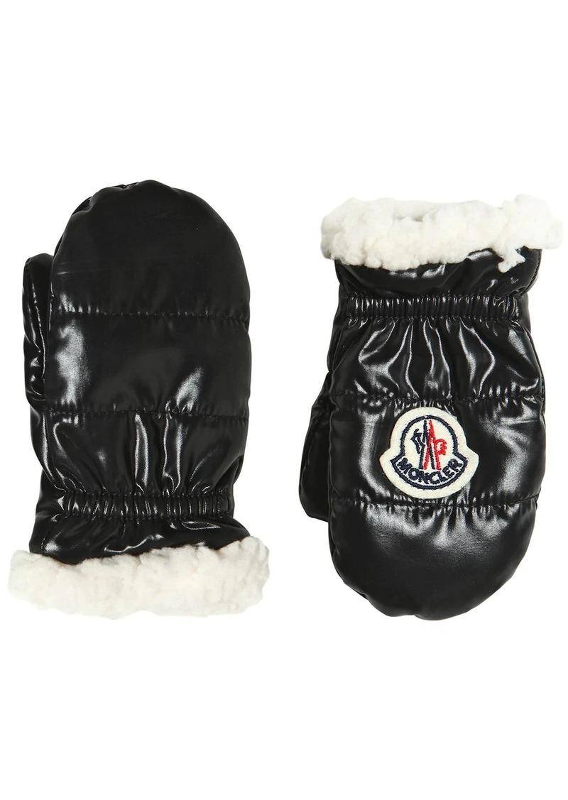 Moncler Nylon & Faux Shearling Gloves