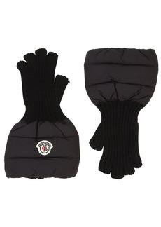 Moncler Nylon & Wool Knit Gloves