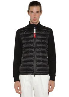 Moncler Nylon Down & Tricot Sweater