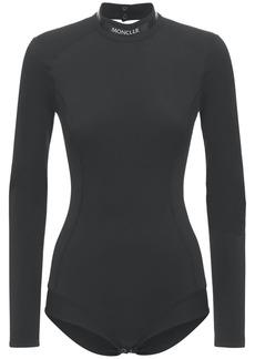 Moncler Open Back Matt Jersey Bodysuit