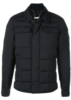 Moncler padded double-collar jacket