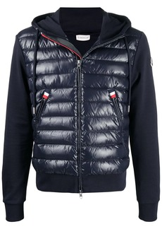 Moncler padded panel knitted cardigan