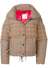 Moncler panelled checked jacket