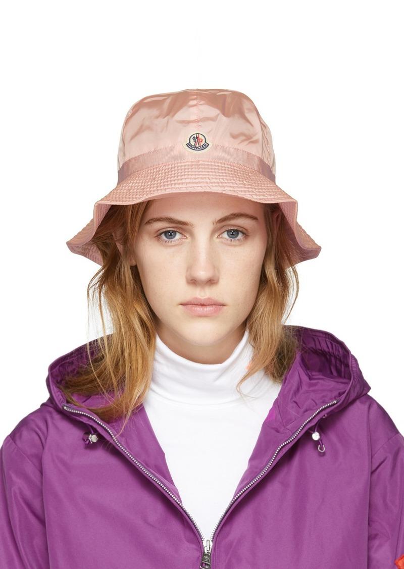 Moncler Pink Logo Bucket Hat