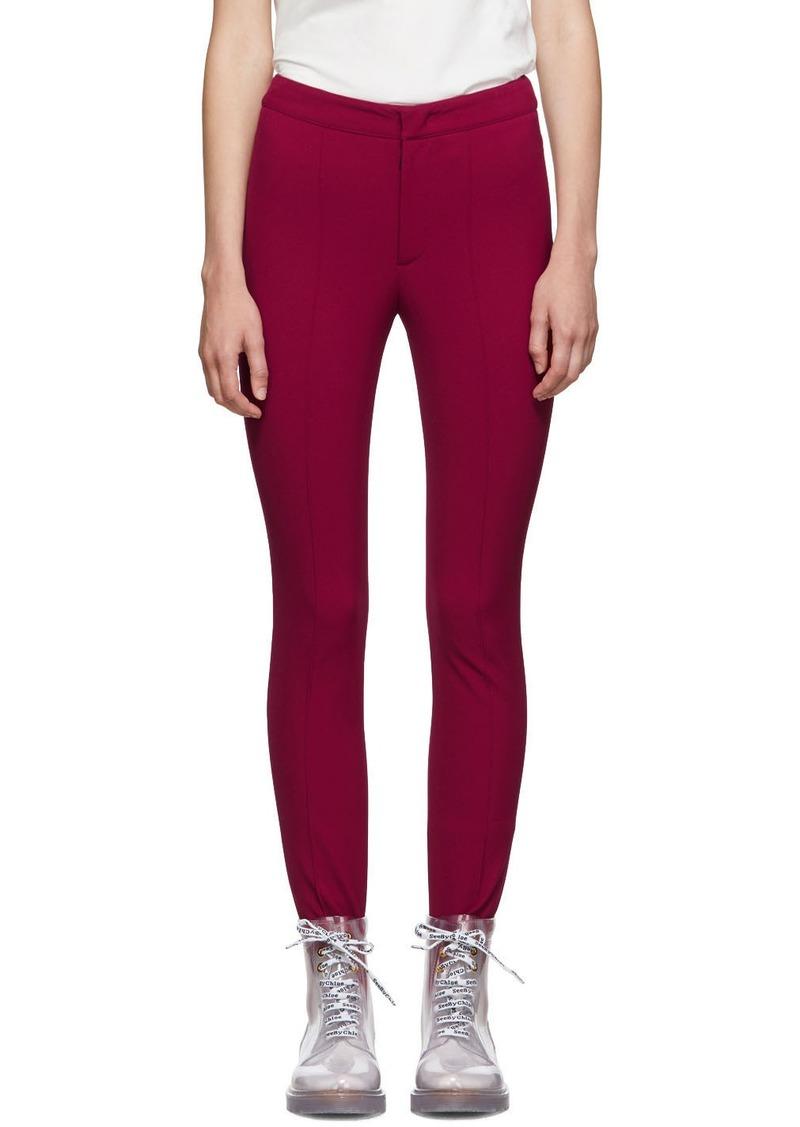 Moncler Pink Skinny Ski Leggings