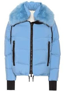 Moncler Plaret fur-trimmed down jacket