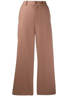 Moncler pleated cropped trousers